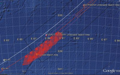 Reconstructing the Malaysian 370 Flight Trajectory by Optimal Search